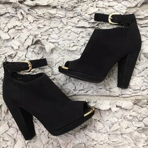 H&M Ankle Booties w/ Gold Hardware